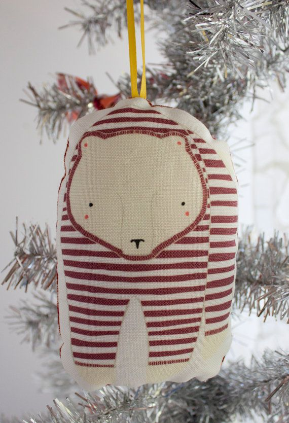 Pajama Bear Christmas Ornament