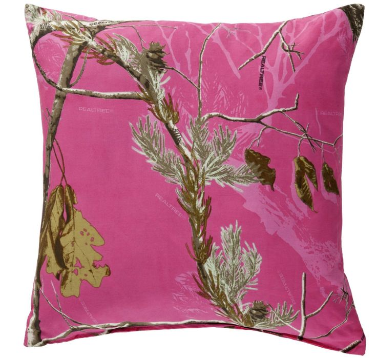 Realtree hot pink camo pillow decorations pinterest for Pink camo decorations