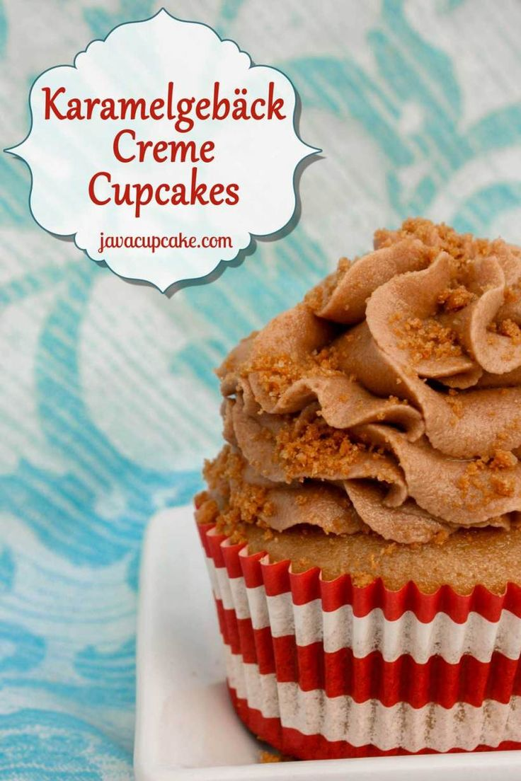 ... aka Cookie Butter, Speculoos and Biscoff) Cupcakes by JavaCupcake.com