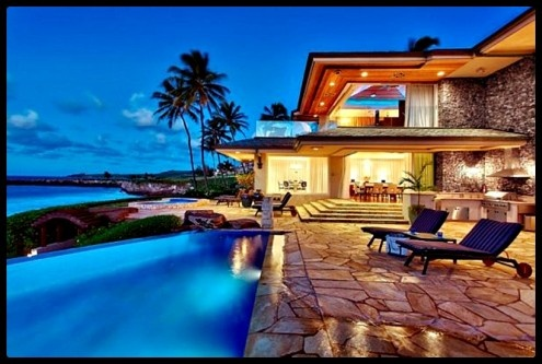 Beautiful home in hawaii dream homes spaces pinterest for How much to build a house in hawaii