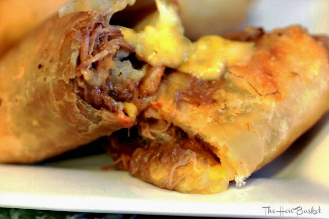 Shredded Beef and Cheese Chimichangas. (or Taquitos) Gooey, savory ...