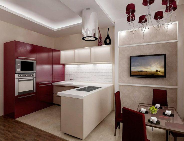 Дизайн проект кухни гостиной 12 кв.м с