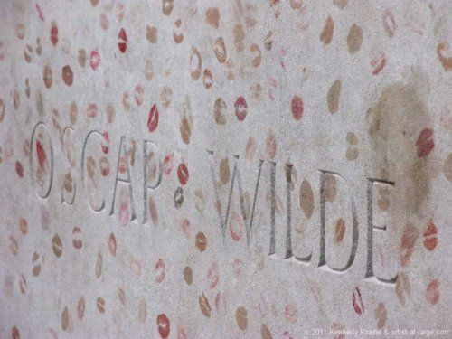 Oscar Wilde's grave is covered in lipstick kisses, left by admirers maybe not so much of his writings but maybe more of his wit and daring lifestyle. A hero and martyr to some, Wilde embodies the original rebel, the wild one, the one who speaks to the public on his own terms.