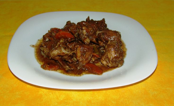 Brown Stew Chicken... My How I LOVE Jamaican food.... in moderation of ...