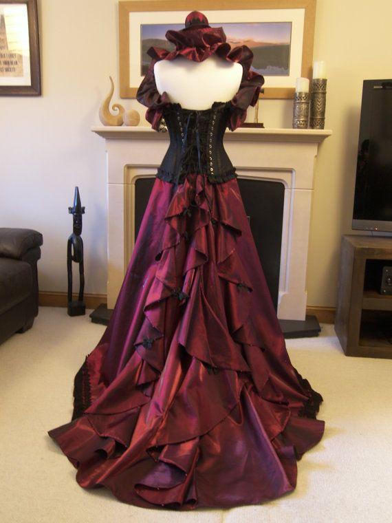 Victorian steampunk ball gown or wedding dress gown for Steampunk corset wedding dress