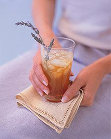 This recipe for lavender whiskey sour was featured in the Fall 1999 issue of Martha Stewart Weddings.