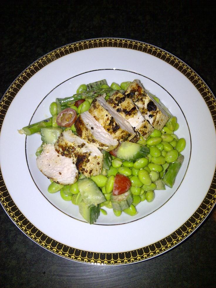 Edamame Salad with Grilled chicken | Yum! | Pinterest