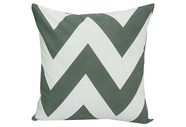 Eddy Chevron 20x20 Pillow, Gray on OneKingsLane.com