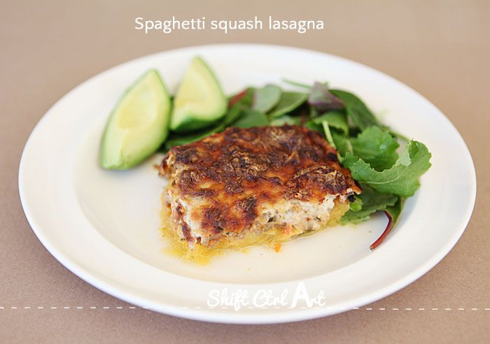 Spaghetti squash lasagna 1