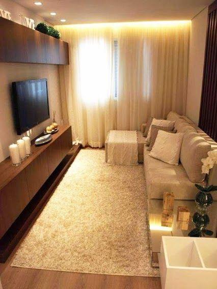 Sala De Tv Aconchegante ~ Sala estreita, mas aconchegante  For the Home  Pinterest