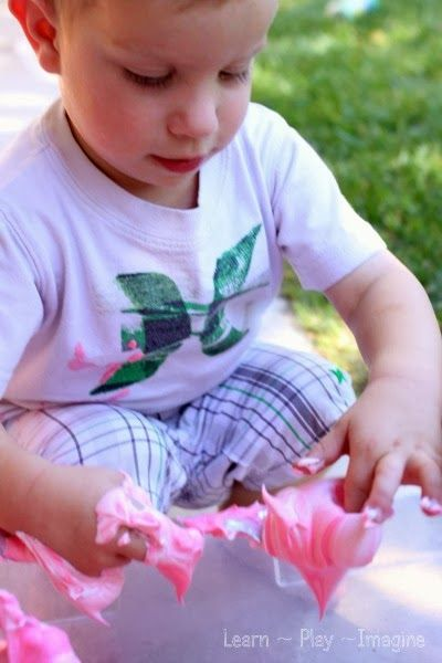 Candy Cane Activities - Peppermint Shaving Cream ~ Learn Play Imagine
