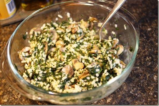 Greek Rice with Spinach and feta