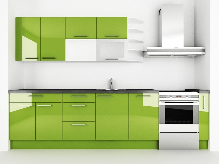 Avokādo virtuve ar Akriluks fasādēm :)