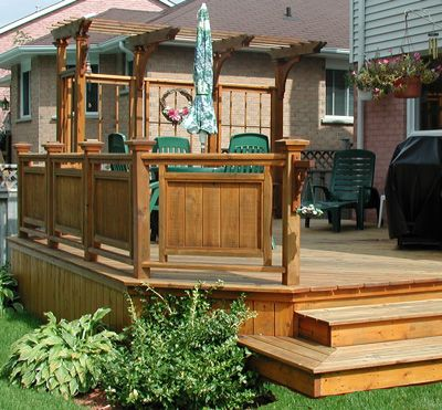 wood deck designs backyard designs pinterest
