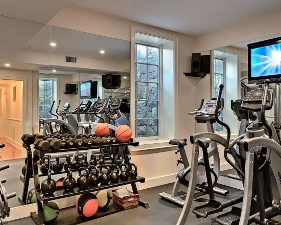 Organized inspiration home gym workout room pinterest - Home workout equipment small space ideas ...