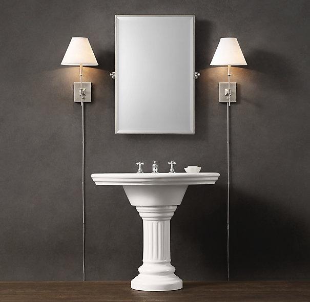 vintage style pedestal sink, RH Style Ideas and Likes Pinterest