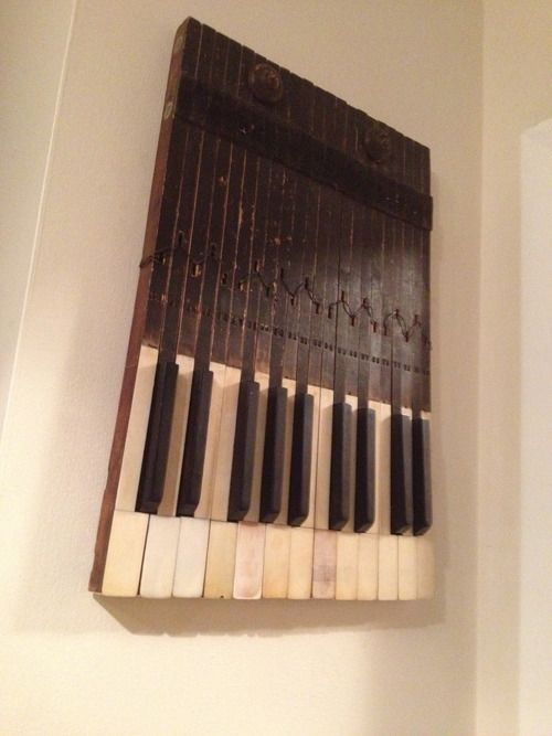 Piano keys wall decoration you should see this pinterest for Decoration keyboard