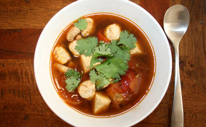 Vietnamese Tomato & Tofu Soup | Soup,Chili,Stew - Vegan/Vegetarian ...