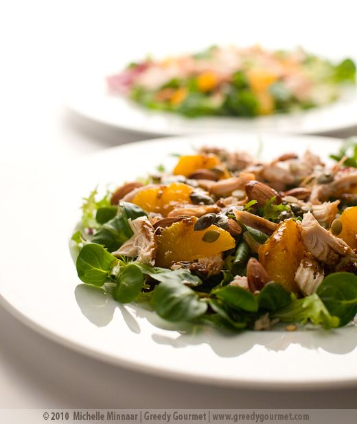 ... , Almond & Orange Salad Cut a Orange in 1/2 and serve salad inside