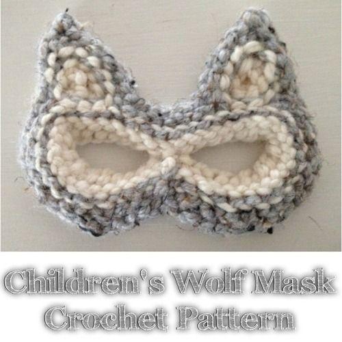 Free Crochet Halloween Mask Patterns : Childrens Crochet Mask Free Pattern Halloween Pinterest