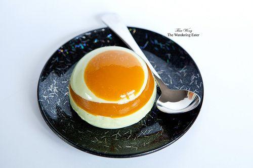 Matcha Green Tea Yogurt Panna Cotta with Passion Fruit Gelée | Matcha ...