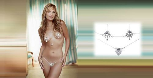 most expensive jewelry: Diamond Bikini by Susan Rosen And Steinmetz this tiny bikini is worth 30 million dollars. Thank God I can't wear it.