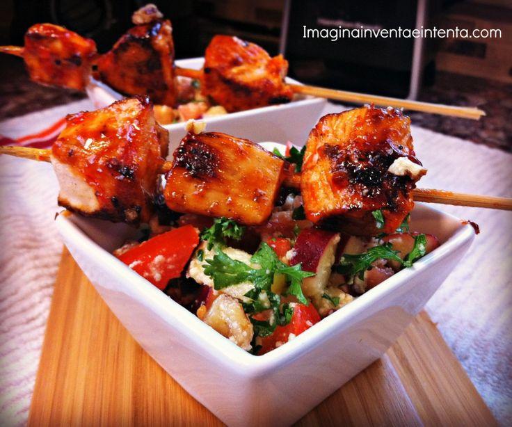 Sweet Sriracha Chicken with Fresh Quinoa Salad - Imagina, Inventa e ...