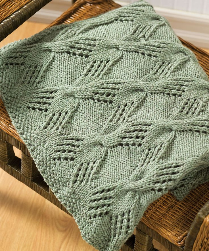 Knitting Throw Patterns : Cable Knit Throw Knitting Pattern Mantas tricO e croche Pinterest