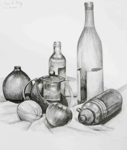 Scribble Drawing Still Life : Still life drawing ideas for beginners imgkid