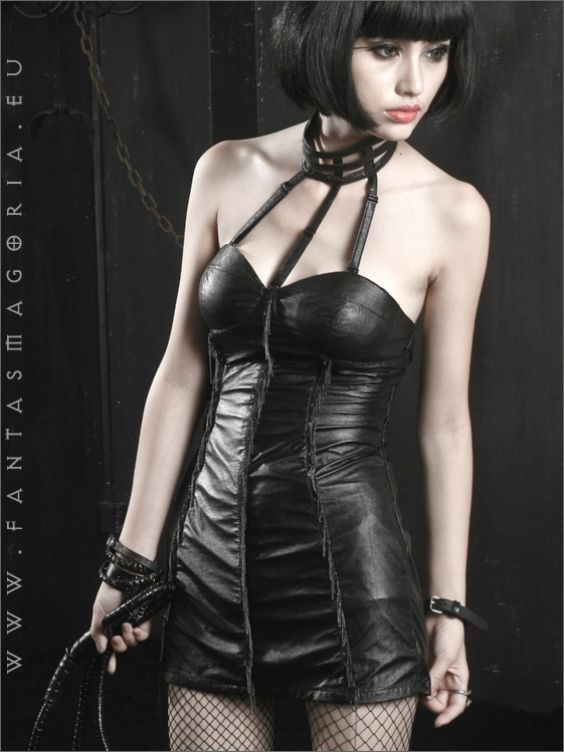 Love see fetish goth leather dress this what