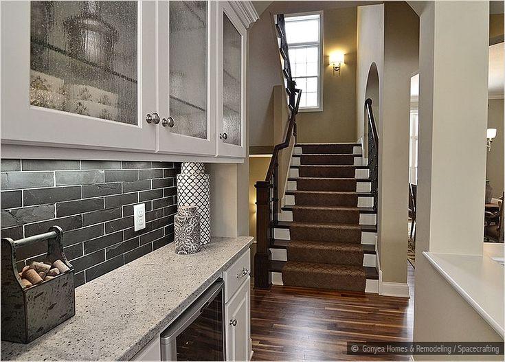 slate tile backsplash home sweet home pinterest