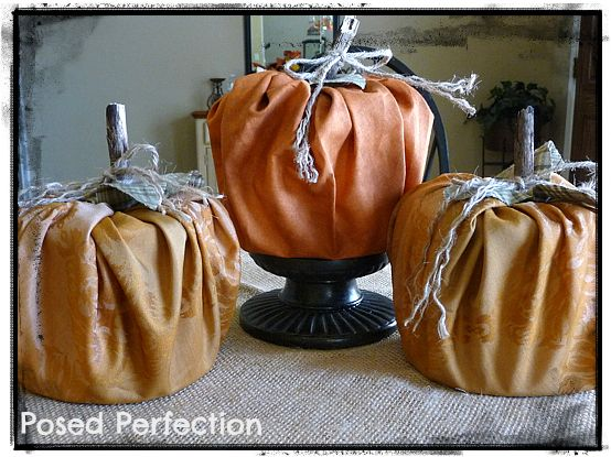 We love these fabulously frugal pumpkins made from Toilet Paper Rolls wrapped lovely fall fabric! Tutorial via Posed Perfection!