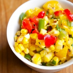 cold corn and roasted red pepper salad | For the table... | Pinterest