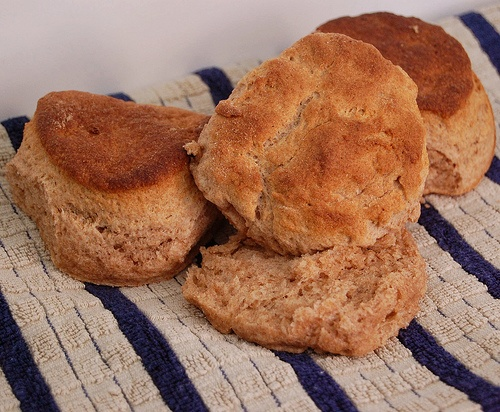 fluffy whole wheat (50/50 mix w AP flour) biscuits