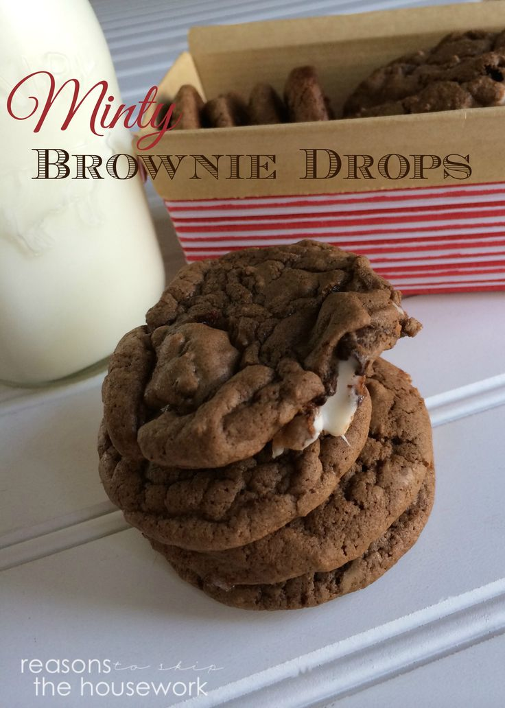 Mint Brownie Cookies