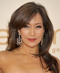 Carrie-Ann Inaba Hairstyle: Formal Long Straight Hairstyle