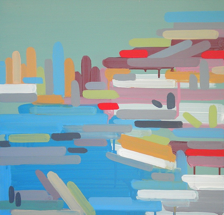 "VICTORIA, BC, acrylic on wood, 21"" x 22"", 2009 // Tyson Anthony Roberts"