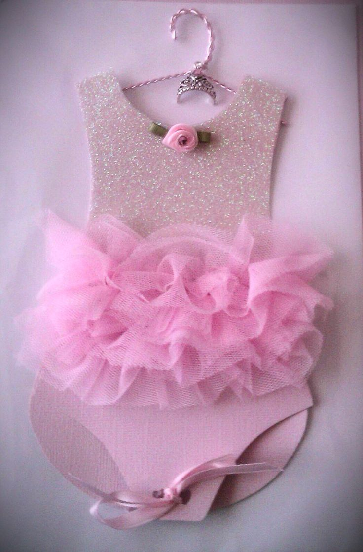pink ballerina tutu baby shower invitation qty 10 by craftingsaavy