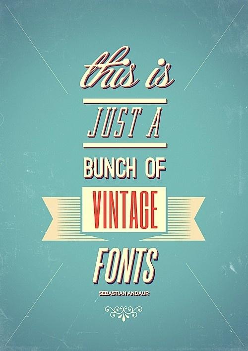 vintage fonts :]