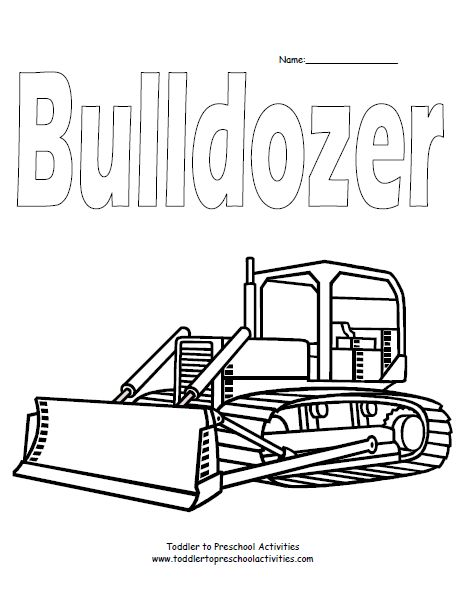 dozer coloring pages - photo#26