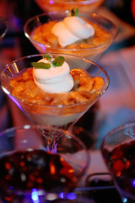 Banana Foster Trifle with Vanilla Rum Sauce