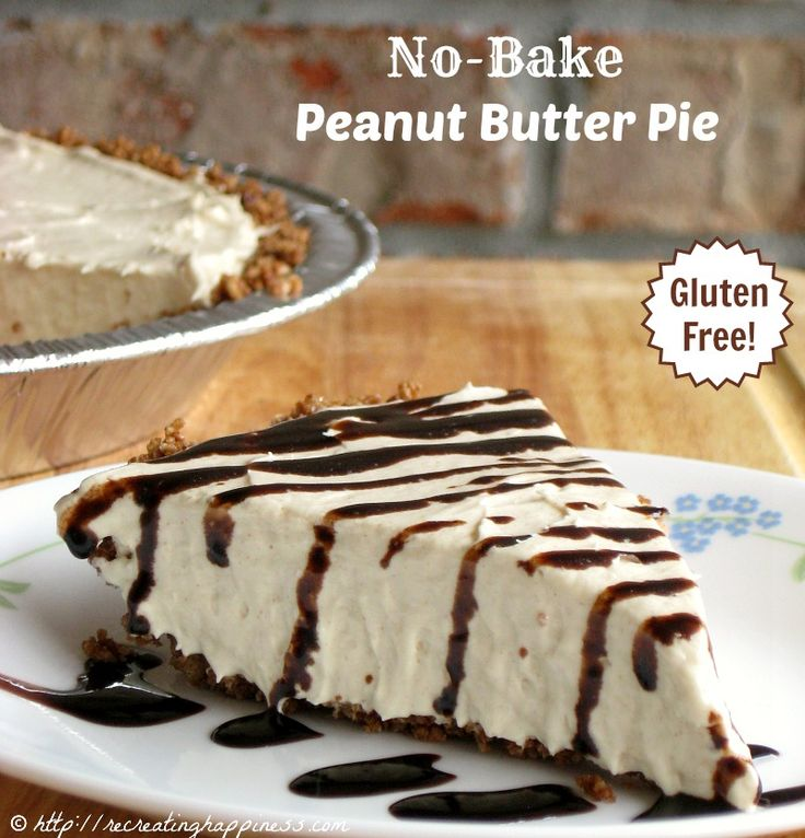 No-Bake Peanut Butter Pie - super quick to make but a HUGE crowd ...