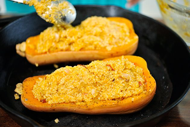 Tasty Kitchen Blog: Twice-Baked Butternut Squash with Quinoa, Pecans ...