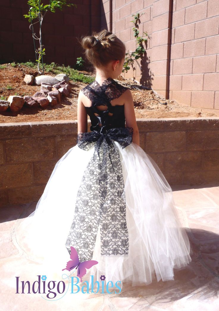 Dresses Flower Girl Dress Weddings Tutu Dress Ivory Tutu Black