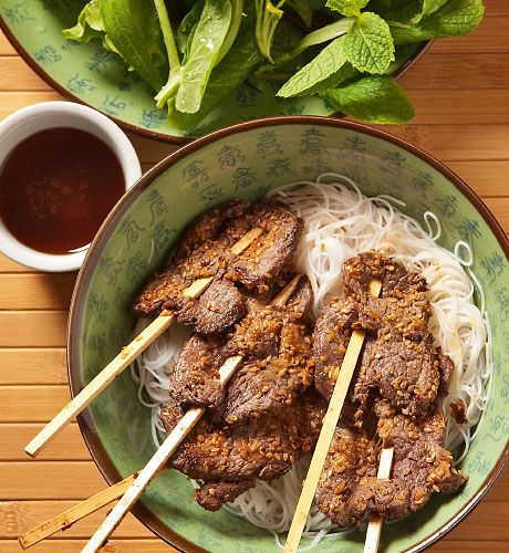 Lemongrass Beef Skewers | Things I would love to eat | Pinterest