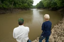 """""""Hunting and Fishing Partners - and Married"""": Being married helps Doug and Carmen McNeely enjoy more time outdoors together.   Missouri Conservationist"""
