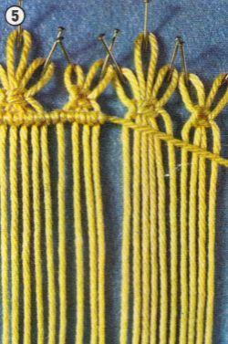 Cómo iniciar un tejido utilizando el nudo perlado
