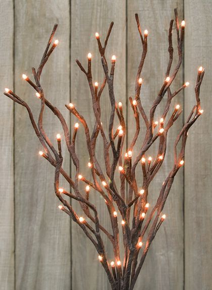 19 Willow Twigs Lighted Branch Decor Pinterest