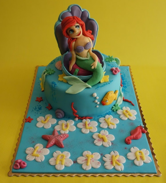 Cake Ariel - Little Mermaid  Cakes Birthday Girls  Pinterest
