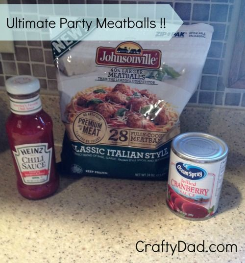 Ultimate Party Meatballs are a Big Hit at Crafty Dad's House - Crafty ...